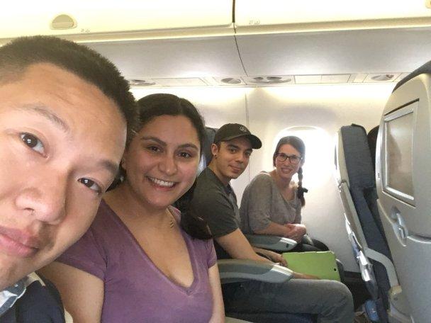 On the plane to Edmonton